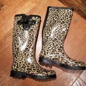 Shoes - Classy Animal Print Cheetah Rain Boots